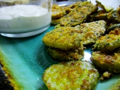 Oven Fried Pickle Chips