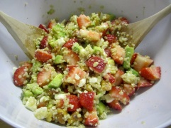 Strawberry, Avocado, Feta Quinoa Salad