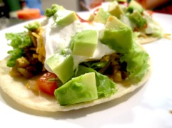 Beef, Corn and Green Chili Tacos